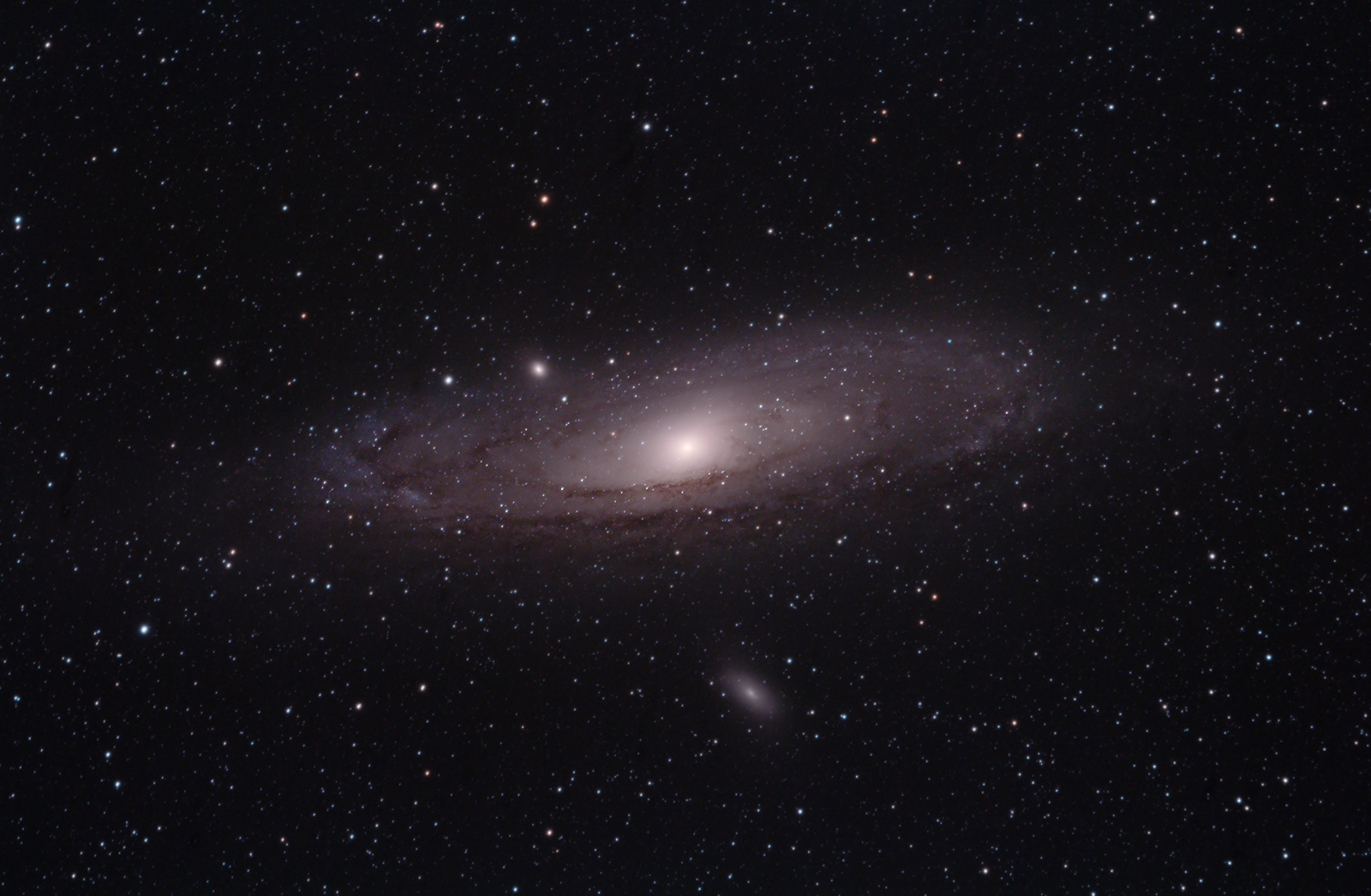 Photographing The Andromeda Galaxy Through A Small Telescope