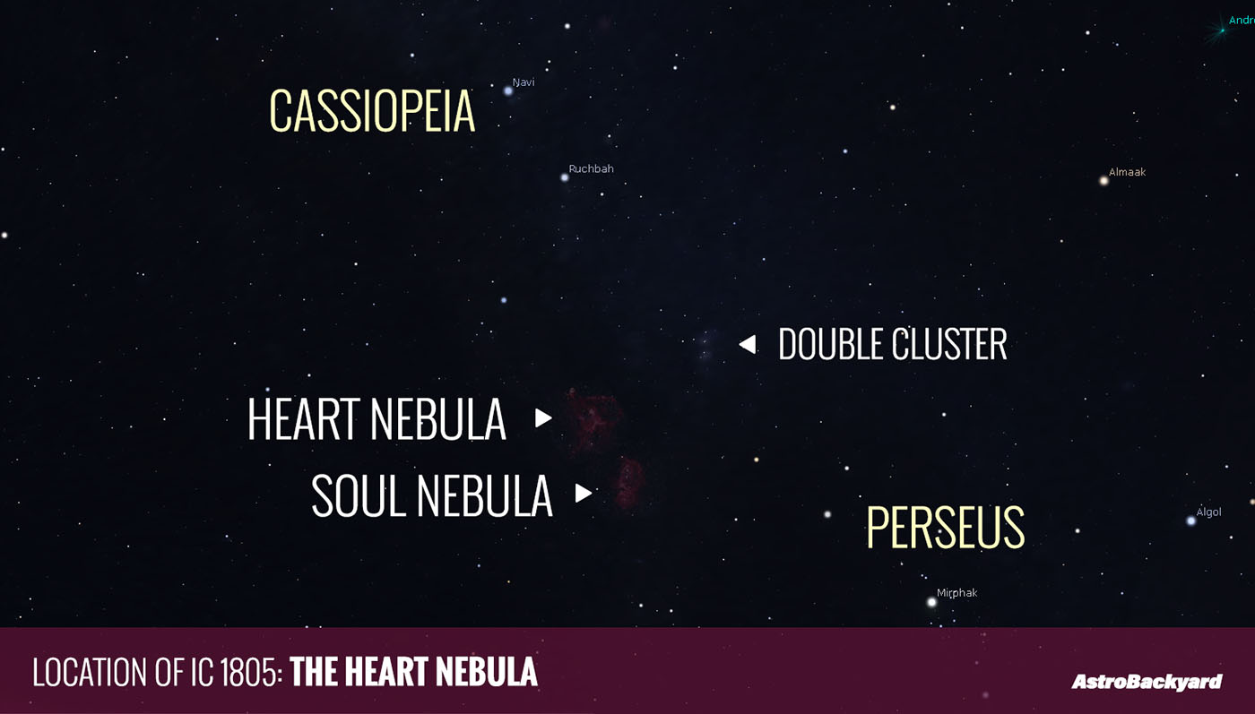 Ic 1805 The Heart Nebula Dslr Astrophotography Canon T3i